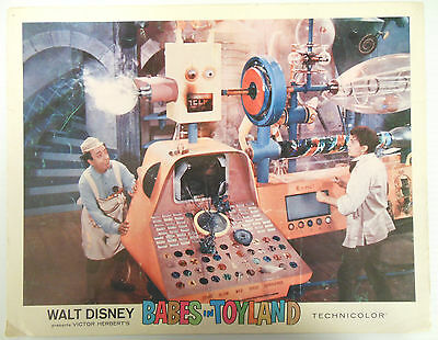 BABES IN TOYLAND LOBBY CARD #3 DISNEY CLASSIC Robot Tommy SANDS 1960's