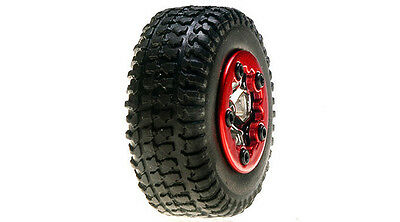 Losi LOSB1583 Micro SC Truck Mounted Tires/Wheels Chrome (4) SCT