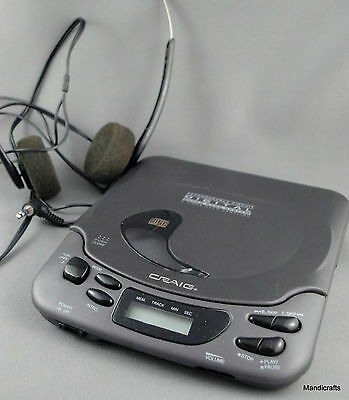 Craig CD Player Personal Portable 1996 Head Phones Rechargeable Digital Audio