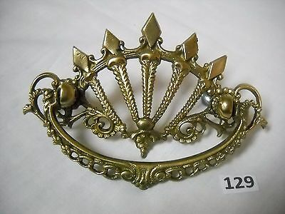 Antique Victorian Ornate Cast Brass Drawer Pull