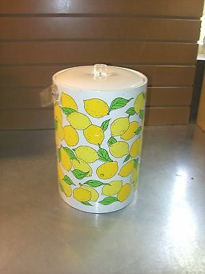 Vintage 80's Lemon Ice Bucket w/Lucite Handle