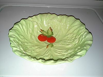 Carlton Ware Cabbage Leaf/Tomatoes on the Vine Footed Serving Bowl