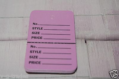1.1//4 x1.7//8 Perforated Unstrung Price Consignment Store Tags 200 PINK Small