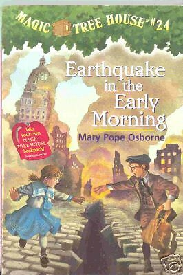 Earthquake in the Early Morning by Mary Pope Osborne Magic Treehouse Kid's Book