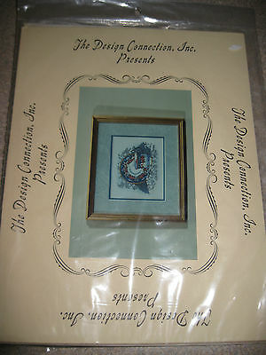 The Design Connection Counted Cross Stitch Kit Scrollwork and Lace Teacup Saucer