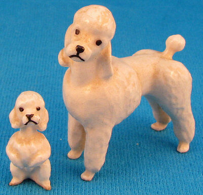 HAGEN RENAKER poodle mama adult style 2 and skinny puppy VINTAGE