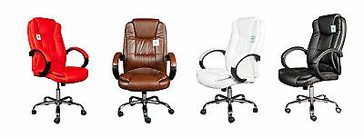 Luxury Swivel Leather Faced Computer/DeskOffice Chair