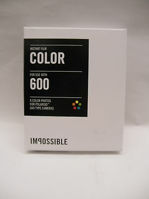 Impossible 600 Color Film for polaroid 600 Cameras 1 pack of film
