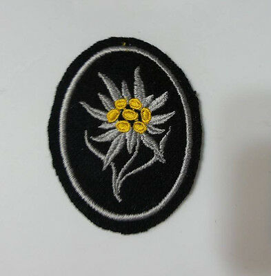 WWI WW2 German Elite Edelweiss patch w RZM tag