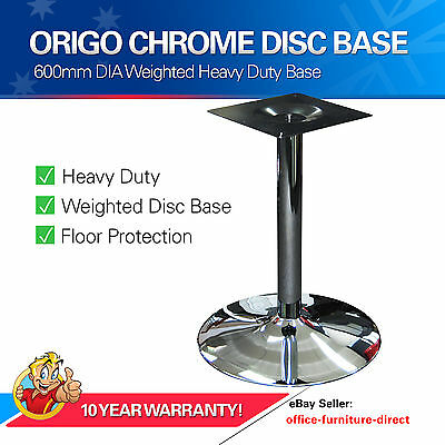 Table Base Pedestal Office Tables Chrome Disc Column Heavy Duty Metal Bases