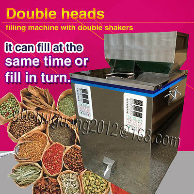 filling tea, granule,food, double heads and shakers powder filler weigh
