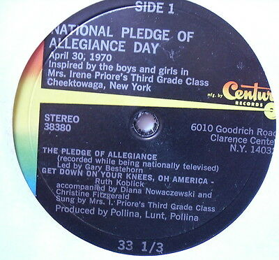 """NATIONAL PLEDGE OF ALLEGIANCE DAY - Excellent Condition 7"""" Single 38380"""