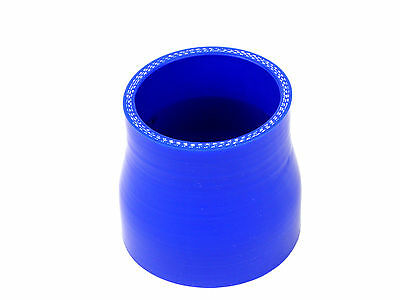 "Blue Silicone Hose Reducer  3"" - 2.5"" 76mm - 64mm Ideal for Intercoolers"