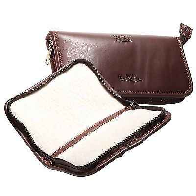 Wychwood River & Stream Leather Fly Wallets - Sizes Small & Large (H0828, H0829)