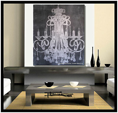 MODERN CANVAS PAINTING ABSTRACT CONTEMPORARY ART CHANDELIER....ELOISExxx