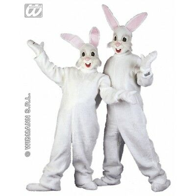 Ladies PLUSH BUNNY Costume for Rabbit Animals Easter Fancy Dress Outfit 1Size Ad