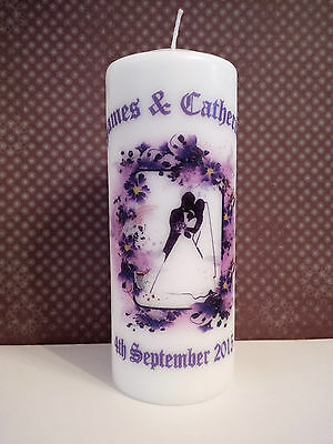 Wedding Candle Decoration Top Table Personalised Unique