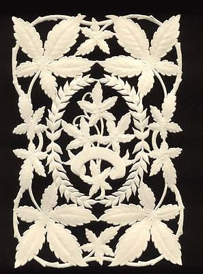 Real 120+ Year-old Antique Victorian Die-cut Paper Lace Leaf & Vine Pattern