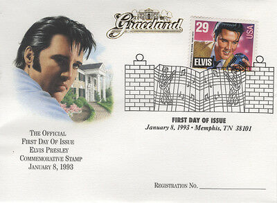 Elvis First Day Issue Stamp & 5 Elvis Trading Card Unopened Packs