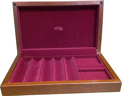 250 CHIP AMERICAN MADE WOOD POKER CASE - Holds 250 Chips plus 2 Decks USA MADE *