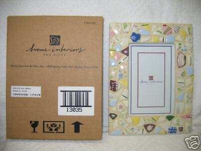 Homco/Home Interiors~Mosaic Garden Picture Frame #13035~NIB Absolutely Beautiful