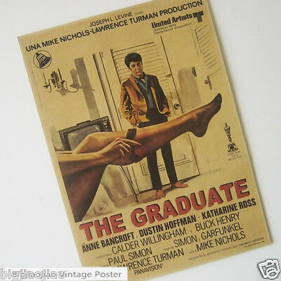 The Graduate Oscar Classics Movie Vintage Brown Paper Poster Bar Room Decorate