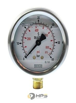 "Wika Glyzerin Manometer 0-60 bar 1/4"" AG UA Ø63mm"