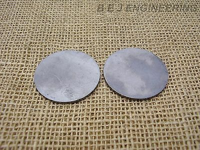 "Mild Steel Disc Circle 60mm dia x 3mm(1/8"") Pk of 2 - Laser Cut"
