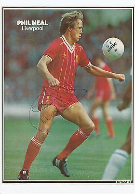 "Phil Neal Liverpool 1974-1985 Original Hand Signed ""Shoot"" Magazine Picture"