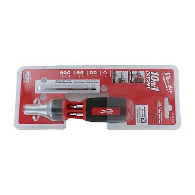 Milwaukee 48-22-2302 10 in 1 Square Drive Ratcheting Multi Bit Drive