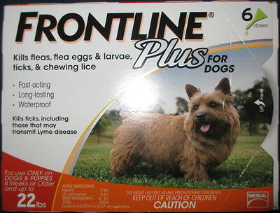 Merial Frontline Plus for Dogs 5-22 lb, 6 Months