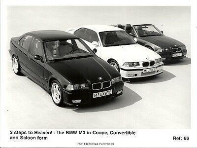 Bmw M3 Coupe, Convertible & Saloon Period Press Photograph.