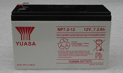 *LOT of 4PCS* Replacement UPS battery 12V 7.2AH YUASA NP7.2-12 for DELL or APC