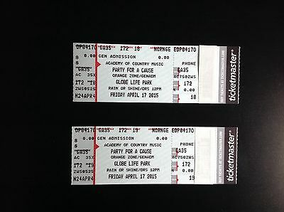 2 ACM AWARDS TICKETS & 2, TWO-DAY PARTY FOR A CAUSE PASSES (FRI & SAT)