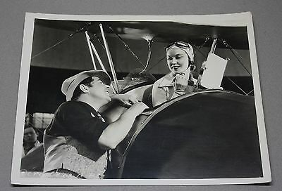 Vintage 8X10 B&W Photo of Fay Wray on the Set of Roaming Lady with Al Rogell