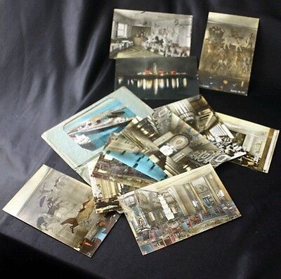 CGT French Line NORMANDIE 12 Colored Postcard Set in Folder