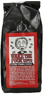 Wake the F'Up Uncensored Coffee, Original Extra Strong, 1 Pound OOO NEW
