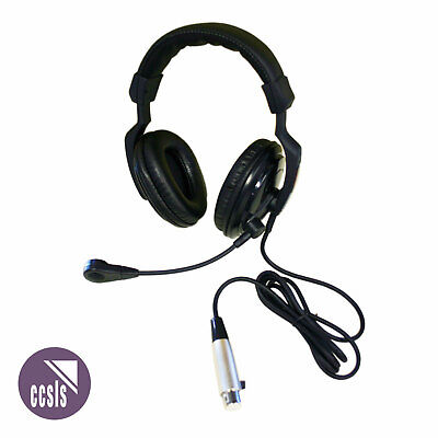 Jands Ehs2 Dual- Muff Communications Headset With 4-Pin Female Xlr Connection