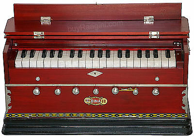 Harmonium Bina No.11|Coupler Funct.|3¼ Octaves|39 Key|Bag|Rosewood Color|Agf