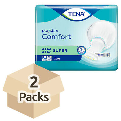 TENA Comfort Super - Case Saver - 2 Packs of 36 Incontinence Pads