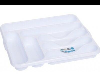 large cutlery tray Ice White