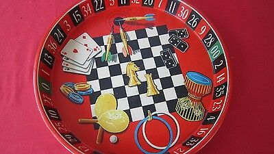 Man Cave Vintage Collectable Tray Bar GAMES TRAY RARE All Pics Roulette Chess +