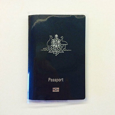 Transparent Passport Cover Protector Travel Clear Holder Organiser Wallet