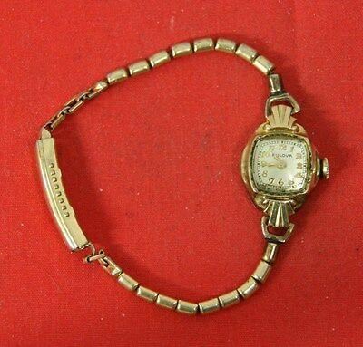 VINTAGE 6BK BULOVA 17 JEWELS WOMEN'S WRISTWATCH SWISS MADE GOLD FILLED
