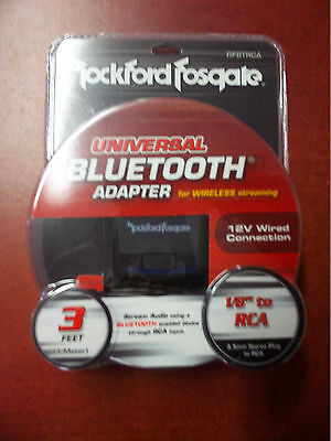 Rockford Fosgate Rfbtrca Universal Bluetooth To Rca Adpator For Audio Streaming