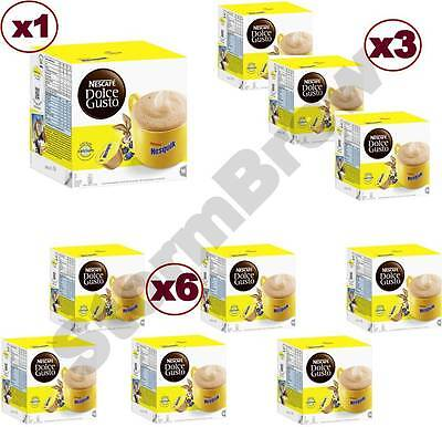 Dolce Gusto Nesquik Hot Chocolate Capsules Pods: 1/3/6 X 16 Packs: You Choose,