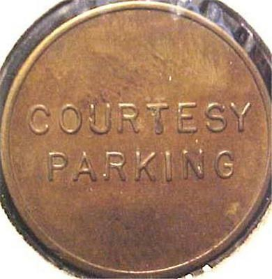 Courtesy Parking Token-7155