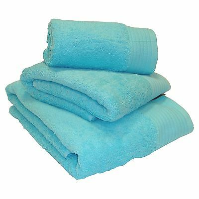 Luxury 100% Egyptian Cotton Thick Heavyweight Combed Turquoise Towels and Mats