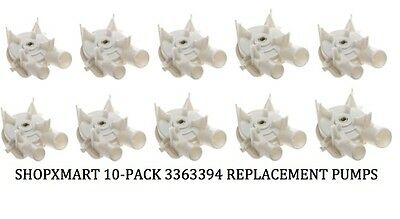 10-PACK 3363394 Replacement Washer Pump for Kenmore Whirlpool