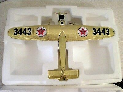 AIRPLANE Bank1927 Wings of Texaco GOLDEN Edition Tri-Motor DIECAST Toy PLANE